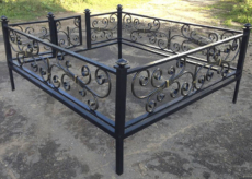 оградки на кладбище - Кузница Юга